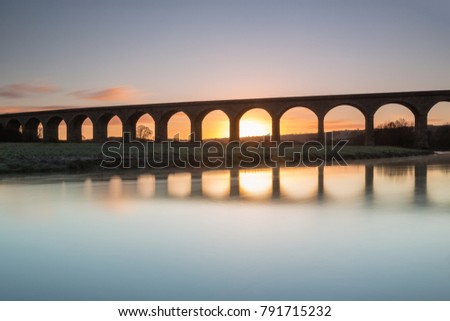Arthington railway viaduct over the River Wharfe, North Yorkshire