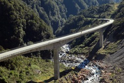 Arthur's Pass Viaduct in New Zealand.