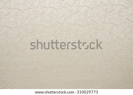 Artificial fabric texture White with floral classy pattern #310029773