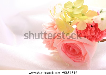 artificial flowers bouquet for wedding image