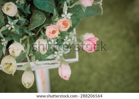 Artificial flowers for home decor(soft focus)