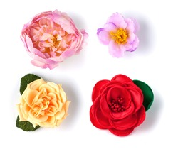 artificial flowers isolated