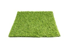 artificial grass isolated on a white background