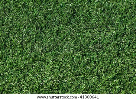 Artificial grass on a football field