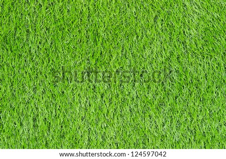 Artificial Green Grass Field Top View Texture