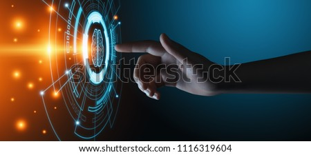 Artificial intelligence Machine Learning Business Internet Technology Concept. #1116319604