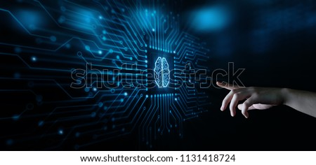 Artificial intelligence Machine Learning Business Internet Technology Concept. #1131418724