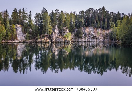 artificial lake in adrspach...