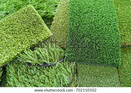 Artificial lawn for a football field
