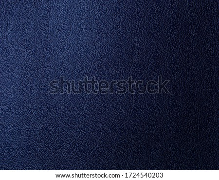 Artificial leather of blue color. Artificial leather texture Foto stock ©