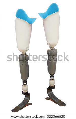 artificial limb under the white background Stock photo ©