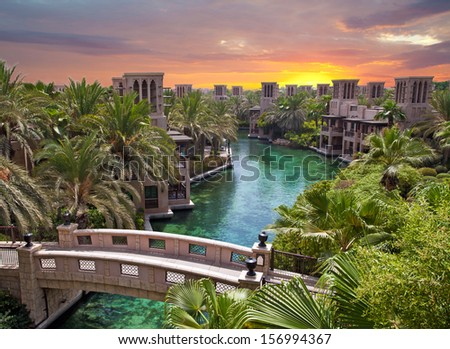 Artificial river in Dubai Saudi Arabia