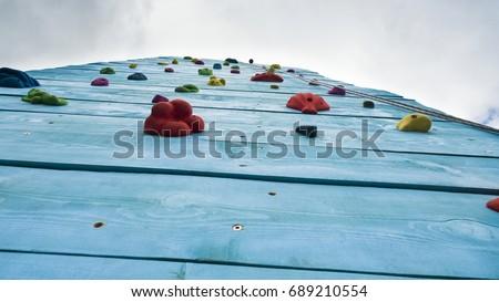 artificial rock climbing wall...