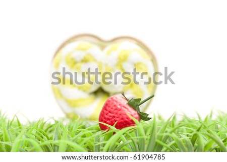 Artificial Strawberry on Grass