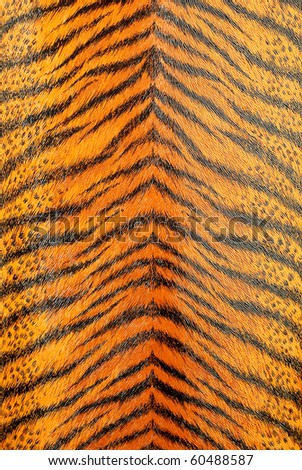 artificial tiger skin pattern