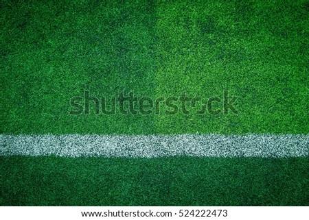 artificial turf of Soccer football field
