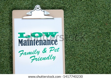 Artificial turf or lawn message on synthetic grass #1417740230