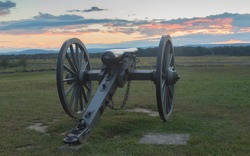 Artillery at Gettysburg looking over field