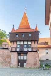 Artillery Tower in old town of Opole, Poland.