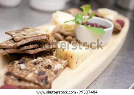 Artisan Cheese and Cracker Plate