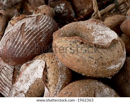 Artisanal bread at farmers' market
