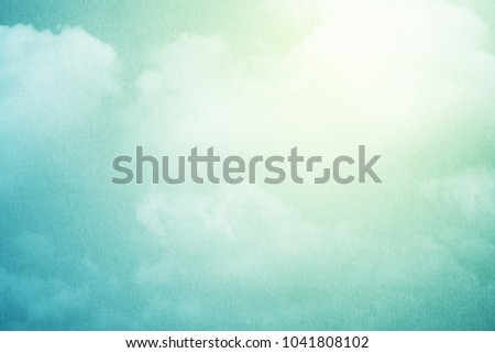 artisric cloudy sky with pastel gradient color and grunge texture, nature abstract background