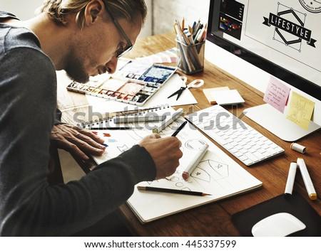 Artist Creative Designer Illustrator Graphic Skill Concept #445337599