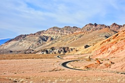 Artist Drive - rural desert road in Death Valley National Park. California. USA.