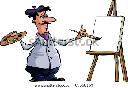 Artist on a white background, raster