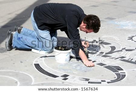 artist on the street