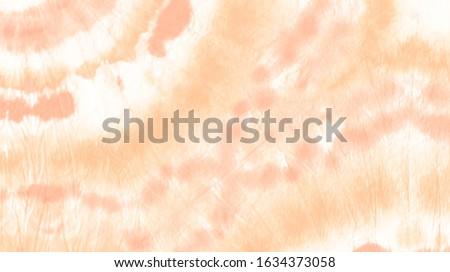 Artistic Abstract Banner. Indonesian Aquarel Decor. Pale Peach Paintbrush Cloth Illustration. Acrylic Brush Paint Tie Dye. Tie Dye Trendy Fabric Watercolour. Tie Dye Painting Cloth Art.