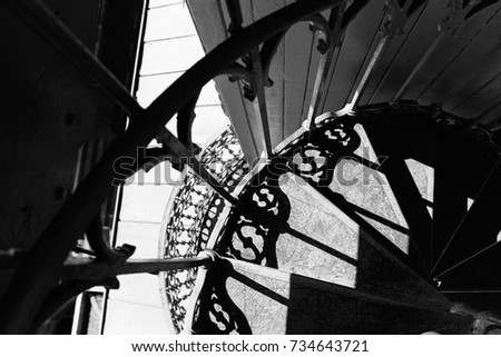 Artistic, Abstract black and white photography with architectural elements