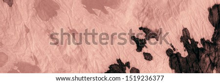 Artistic Artistic Tie Dye. Aquarelle Texture. Brown Dirty Background. Pastel Aquarelle Paint. Cute Graffiti Style. Brushed Silk. Pink Brushed Paper. Traditional Dyed.