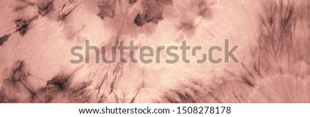 Artistic Artistic Tie Dye. Aquarelle Texture.  Home Dirty Art Style. Vintage Aquarelle Paint. Pink Traditional Dyed. Oil Ink. Brown Brushed Texture. Graphic Dyed.