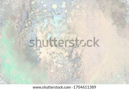 Artistic beauteful magical background - ink splashes on creamy and green, grey surface.  Photo stock ©