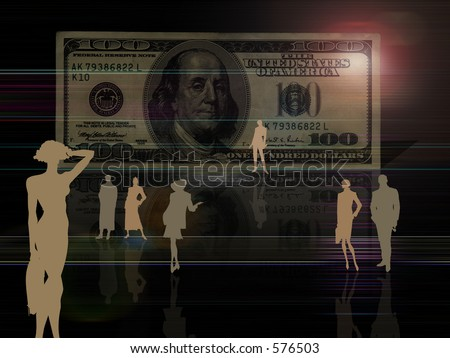 Artistic $100 bill background