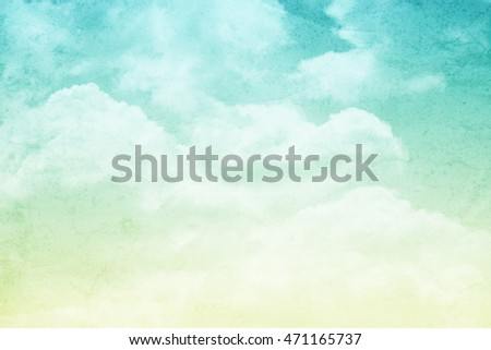 artistic cloud and sky with gradient color and grunge texture