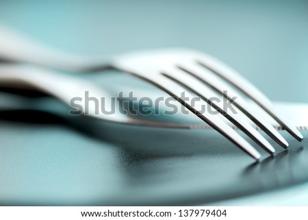 Artistic cutlery fork and knife