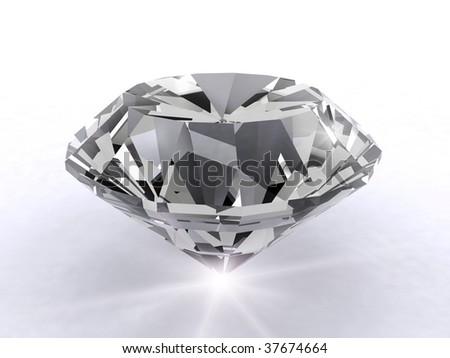 Artistic 3d diamond