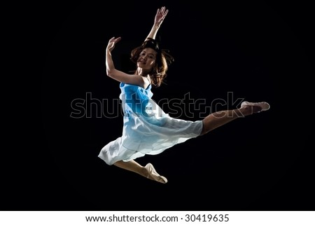 Artistic female ballet dancer