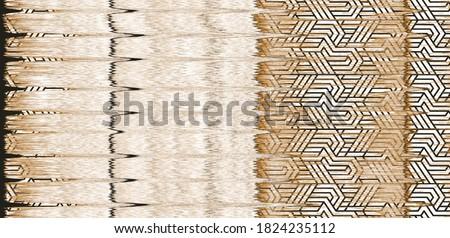Artistic geo deep dye geo tie dye stripe, check beige cream brown coloured boho Pattern seamless Dyed Print pattern design . Abstract Texture Hand  Ethnic Batik for runner carpet, rug, scarf, curtain