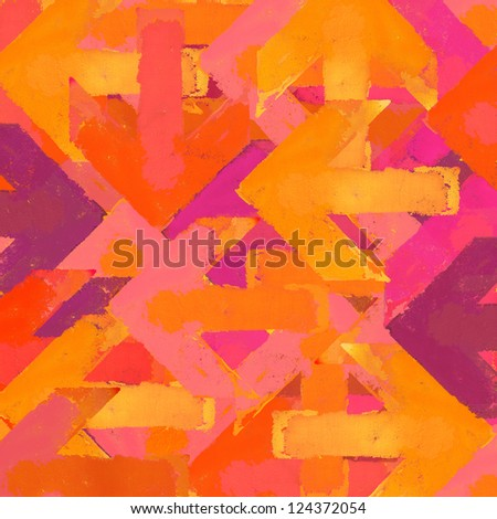 Artistic grunge design arrows background in a warm colors