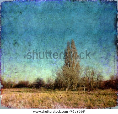 artistic image of a landscape in london, england with plenty of space for text - stock photo