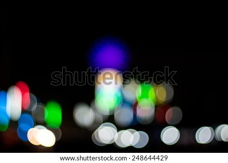 Artistic style - bokehs of lights in the background with blurring lights for your design #248644429