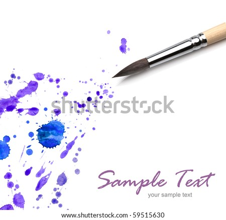 artists brush and blots