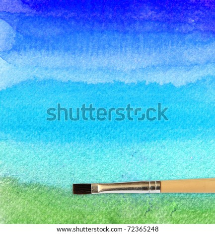 artists brush strokes watercolor painted for background