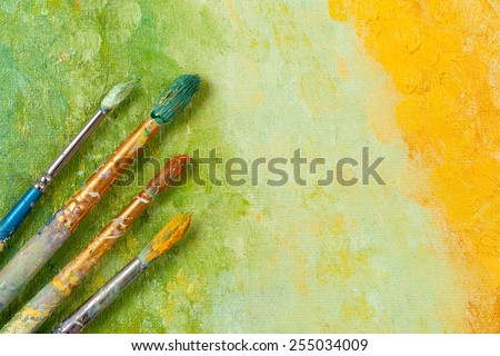 artists vintage tools brushes...
