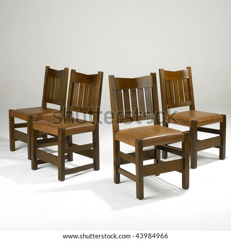Arts and crafts dining room chairs stock photo 43984966 shutterstock - Arts and crafts dining room furniture ...
