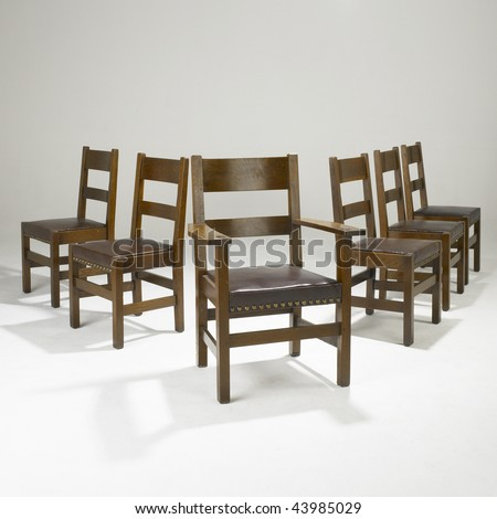 arts and crafts dining room chairs