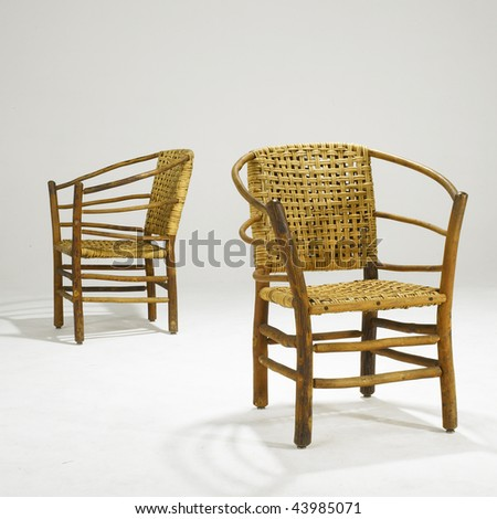 arts and crafts wicker dining room chairs